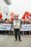 Protestera för armenier- och Turkiet diaspora Arkivfoto