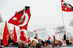 Protestera för armenier- och Turkiet diaspora Royaltyfri Fotografi