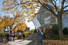 protestera för telefon för antenninstalation mobilt Royaltyfri Bild