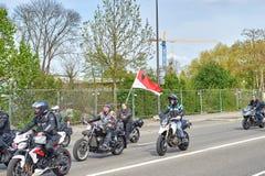 Protestera mot fusion av den Alsace regionen med Lorraine och Champa Arkivfoto