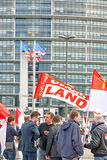 Protestera mot fusion av den Alsace regionen med Lorraine och Champa Royaltyfria Foton