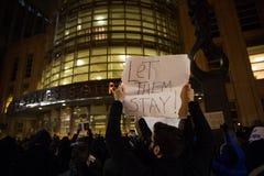 Protestera reseförbud för muselman för trumf` s Arkivfoton