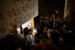 Protestera reseförbud för muselman för trumf` s Royaltyfria Foton