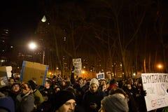 Protestera reseförbud för muselman för trumf` s Royaltyfri Fotografi