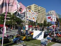 protestera strängde tecken Royaltyfri Fotografi