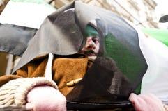 protestera syrianer Arkivfoto