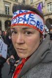 protesterar fransk glad homophobia paris för kundutbildningshjälpmedel upp Royaltyfri Foto