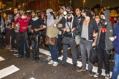 protesters Stockfotografie