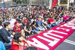 protesters Lizenzfreies Stockbild