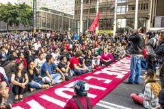 protesters Lizenzfreies Stockfoto