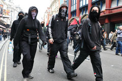 Protesters at an Austerity Rally in London Stock Photography