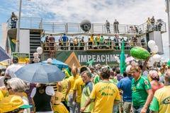 Protesters in Brasilia, Brazil Royalty Free Stock Image