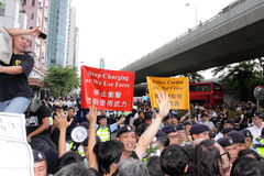 Protesters Demand Dissident Death Probe in H.K. Royalty Free Stock Images