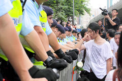 Protesters Demand Dissident Death Probe in H.K. Royalty Free Stock Photography