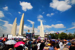 Protesters at Democracy Monument to anti government amnesty bill Royalty Free Stock Photography