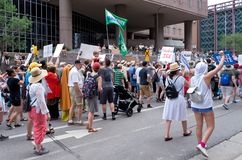 Protesters End March at Hennepin County Jail Stock Image