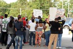Protesters in Ferguson, Missouri Royalty Free Stock Photos