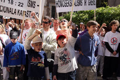 Protesters in gay pride in Riga 2008 Stock Photography