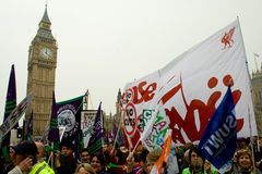 Protesters at the Houses of Parliament Stock Photos