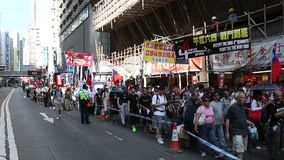 Protesters March ahead of Tiananmen Anniversary in Hong Kong. On 1 Jun 2014 stock footage