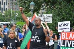 Eric Garner protest in New York City stock image