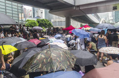 Protesters about Northeast New Territories Hong Kong Royalty Free Stock Photos