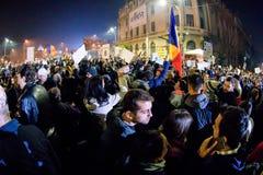 Protesters at Piata Universitatii Royalty Free Stock Photos