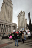 Protesters picketing over human trafficking laws outside state courthouse, lower Manhattan Stock Photo