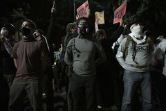 07/24/2020, the protesters at the Portland justice center