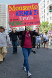 Protesters rallied in the streets against the Monsanto corporation Stock Photos