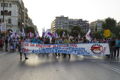 Protesters rallied in the streets in Thessaloniki by members of Stock Photo