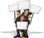 Protesters on rally. Business cartoon people Stock Images