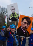 Protesters rally near russian embassy Royalty Free Stock Images