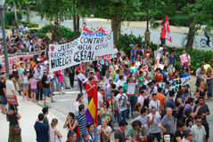 Protesters in Seville Stock Image