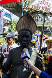 Protesters shut down Bangkok to reform before election at Asoke Royalty Free Stock Images