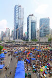Protesters standoff at admiralty, hong kong Royalty Free Stock Photos