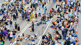 Umbrella protesters standoff at admiralty, hong kong Royalty Free Stock Photo