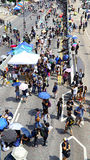 Umbrella protesters standoff at admiralty, hong kong Stock Photos