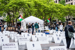 Protesters supporting Palestine Royalty Free Stock Photography