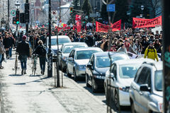 Protesters Takes the control of the Streets Royalty Free Stock Images