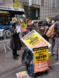 Protesters on 5th Avenue in Front of Trump Tower, NYC, USA Royalty Free Stock Photos