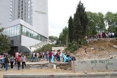 Protesters in Turkey in june 2013 Stock Photo