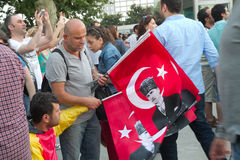 Protesters in Turkey in june 2013 Royalty Free Stock Images