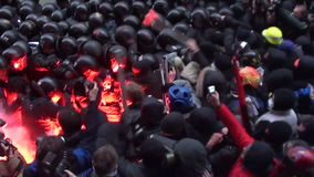 Protesters, Ukraine. Ukraine. Kiev, protesters stormed the presidential administration stock footage