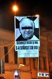 Protestez contre Ion Iliescu, président socialiste ex de la Roumanie Image libre de droits