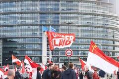 Protestez contre la fusion de la région d'Alsace avec la Lorraine et le Champa Image libre de droits
