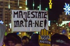 Protestez contre les lois de la justice à Bucarest photos libres de droits
