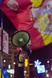 Protestez contre les lois de la justice à Bucarest photographie stock libre de droits
