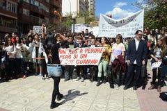 Protestez la démonstration des étudiants et des étudiants universitaires dans Alicante Photo stock