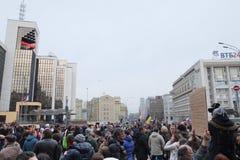 Protestez la manifestation des muscovites contre la guerre en Ukraine Photographie stock